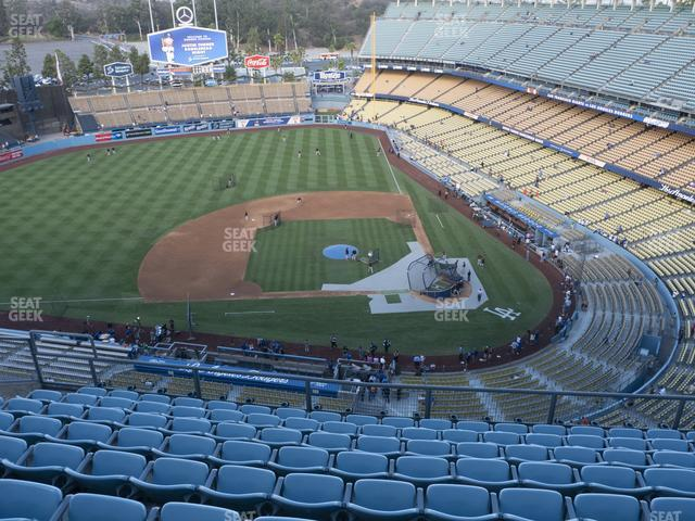 Dodger Stadium Section Top Deck 13 view