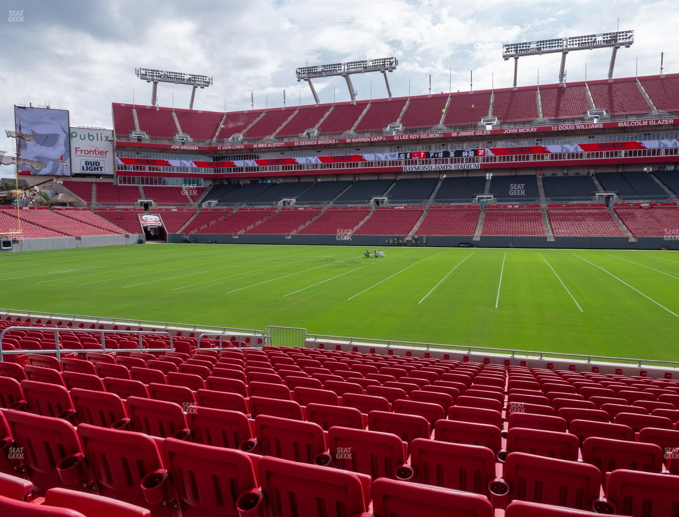 Tampa Bay Buccaneers at Raymond James Stadium Section 112 View
