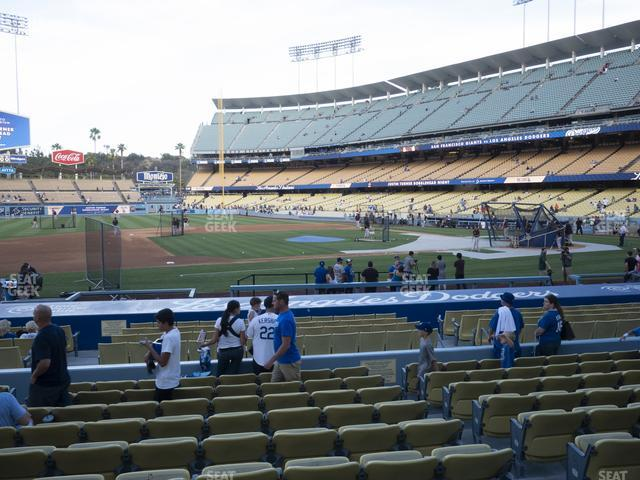 Dodger Stadium Field Box 21 view