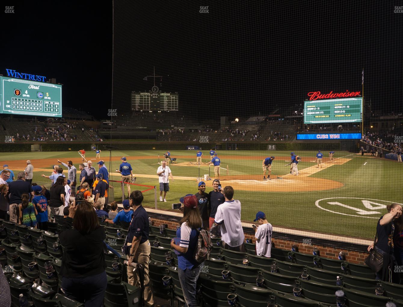 Chicago Cubs at Wrigley Field Club Box Home Plate 15 View