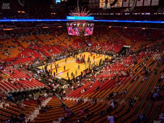 American Airlines Arena Section 329 view