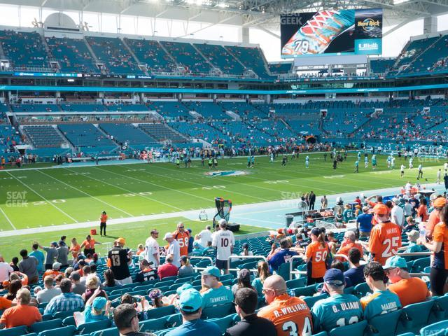 Hard Rock Stadium Section 121 view
