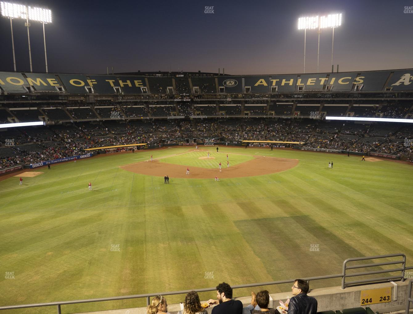 Oakland Athletics at RingCentral Coliseum Section 244 View