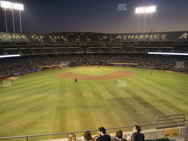 Oakland-Alameda County Coliseum Section 244 view