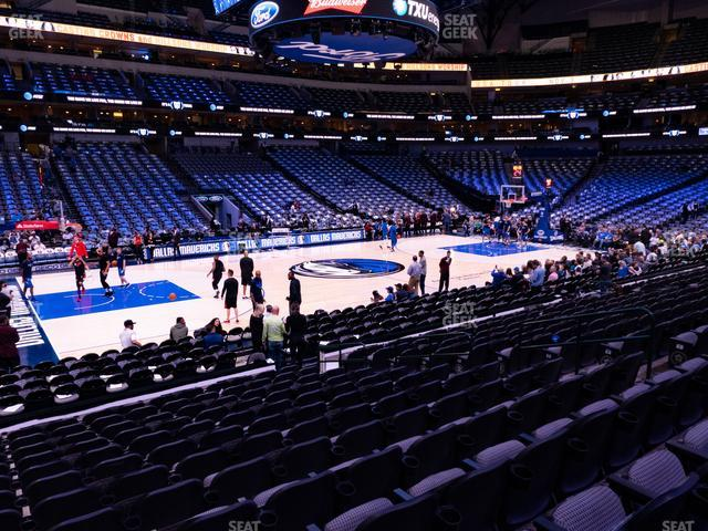 American Airlines Center Section 108 view