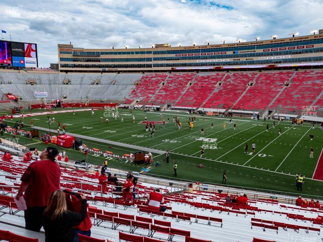 Camp Randall Stadium Section B view