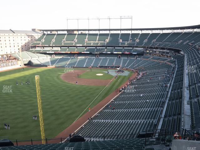 Oriole Park at Camden Yards Section 374 view