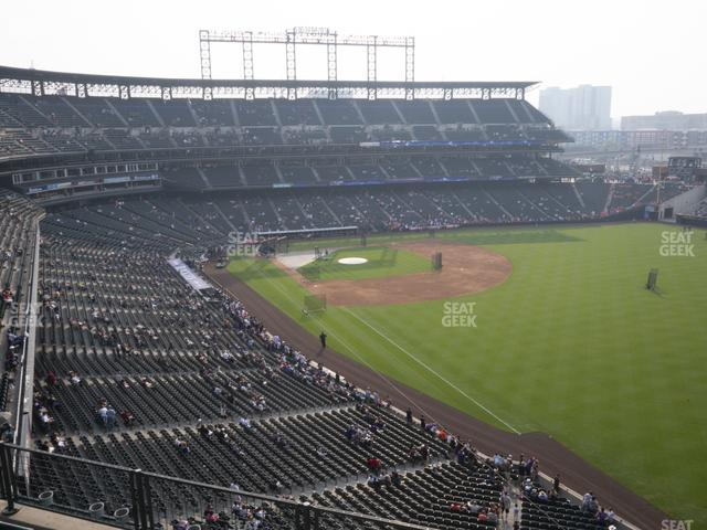 Coors Field Lower 312 view