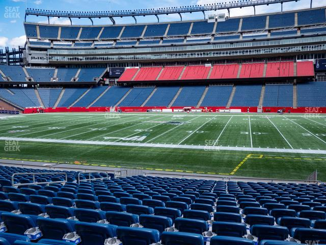 Gillette Stadium Section 130 view