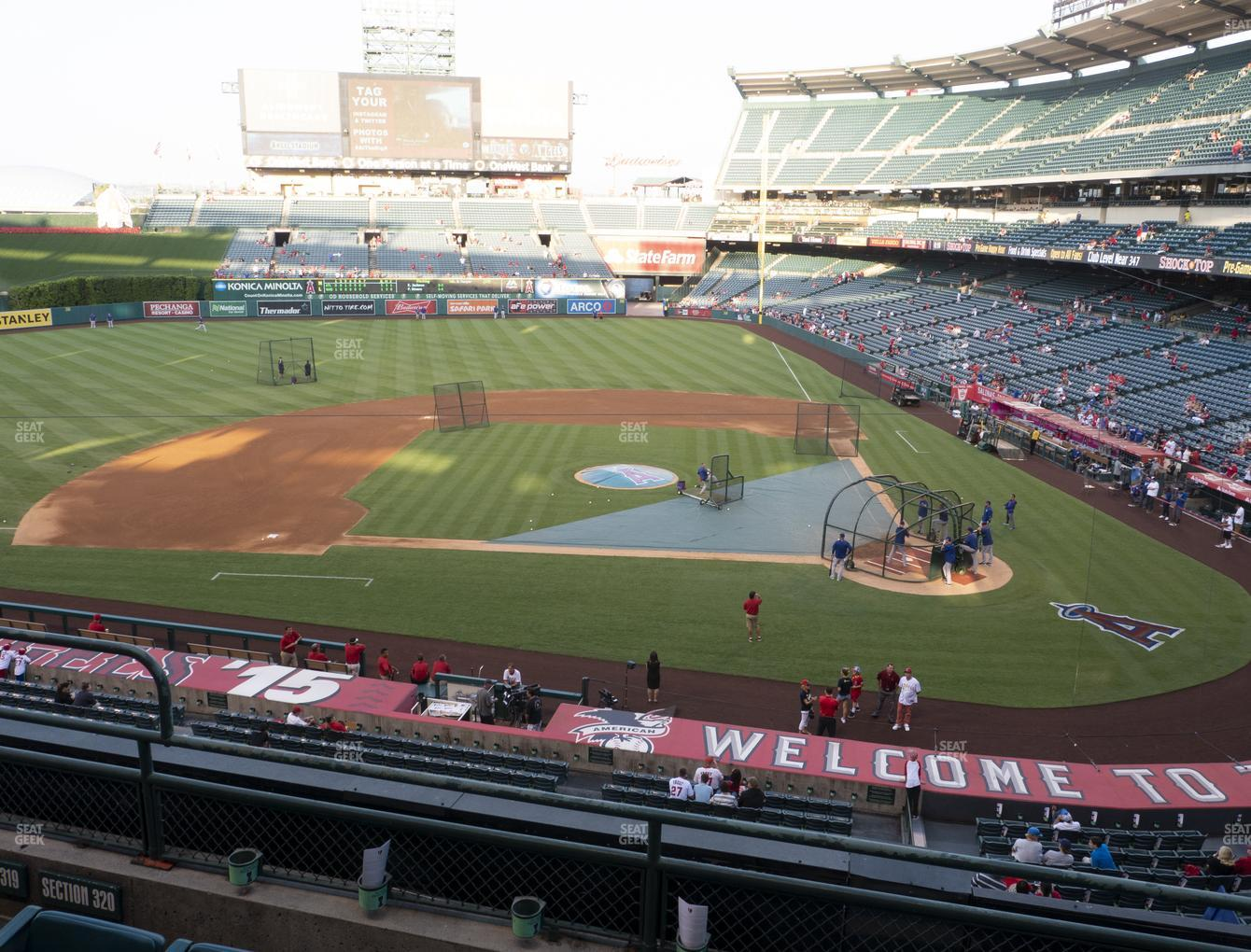 Los Angeles Angels at Angel Stadium of Anaheim Section 320 View