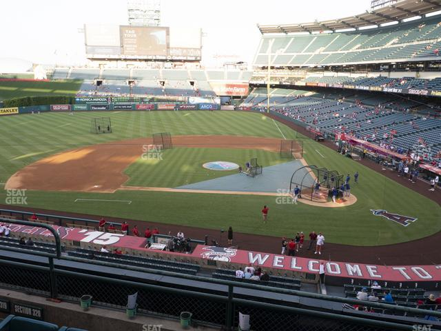Angel Stadium of Anaheim Section 320 view