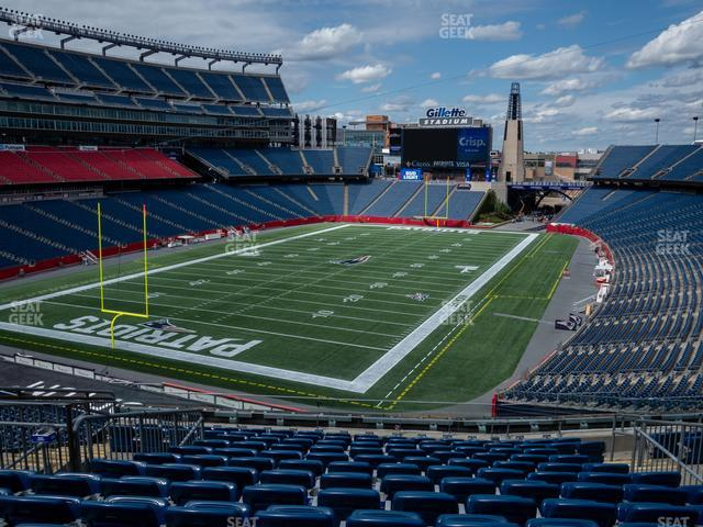Gillette Stadium Section 218 view
