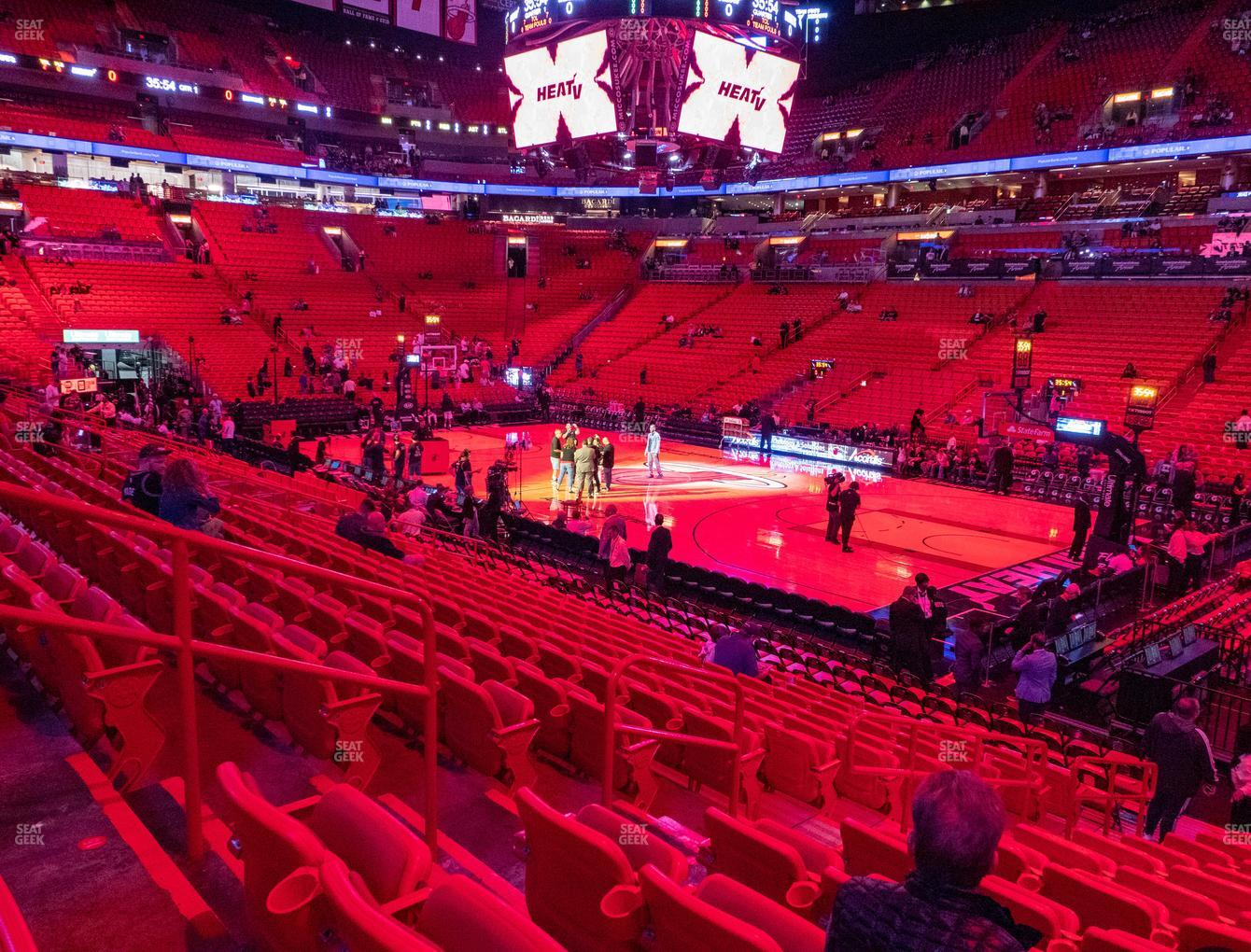 american airlines arena section 116 seat views | seatgeek