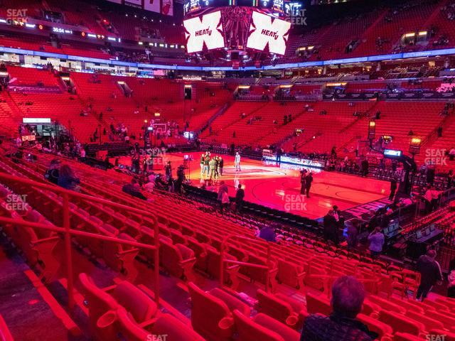 American Airlines Arena Section 116 view