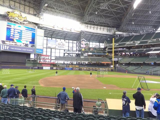 Miller Park Section 123 view