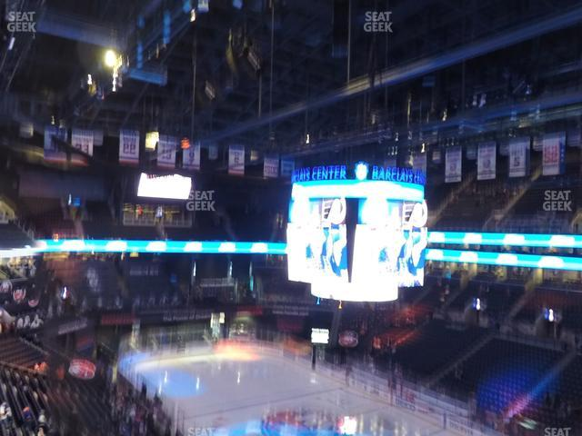 Barclays Center Section 220 view