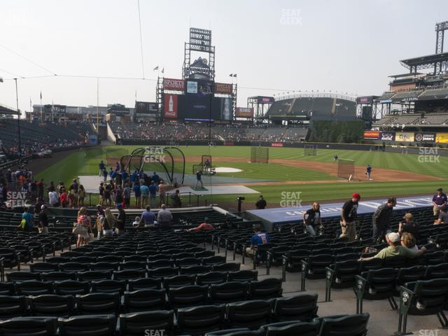 Coors Field Section 127 view