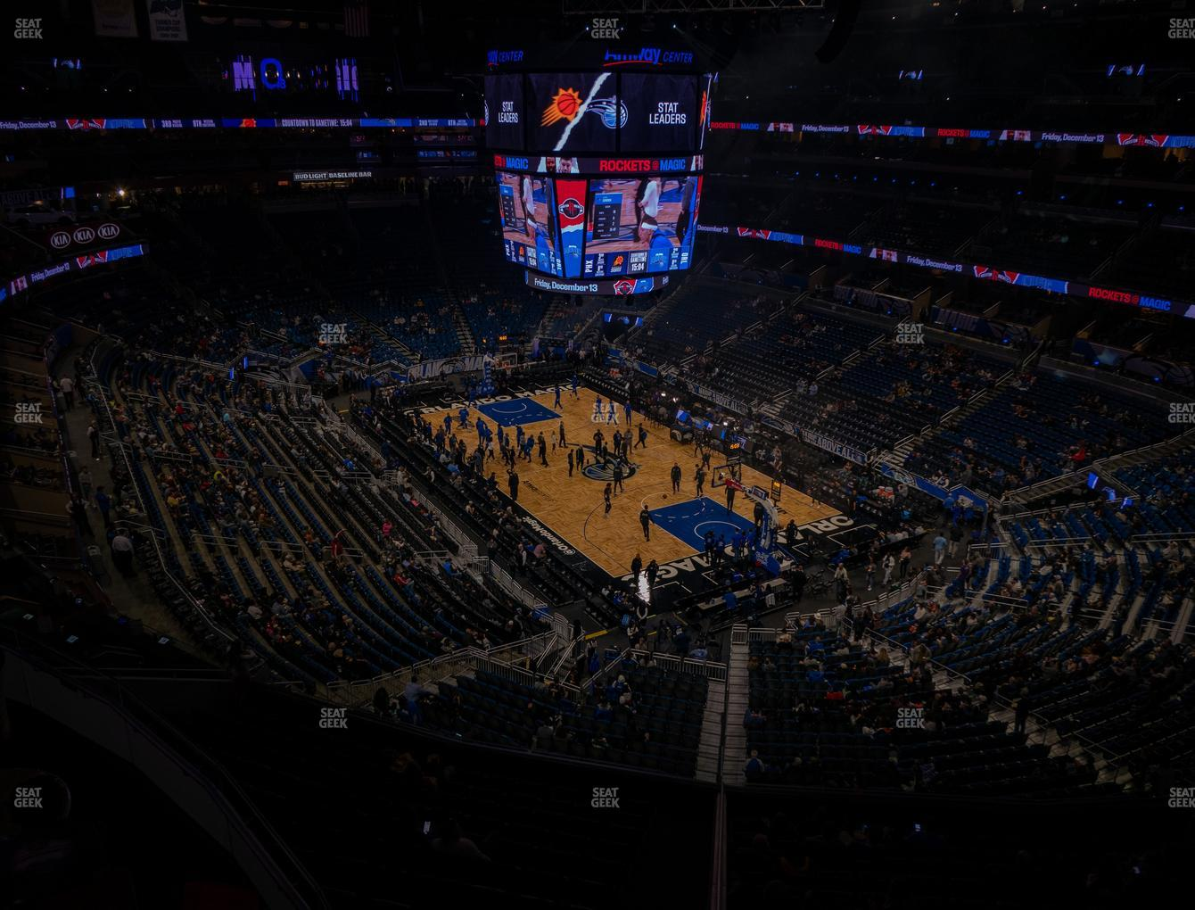 Orlando Magic at Amway Center Section 220 View