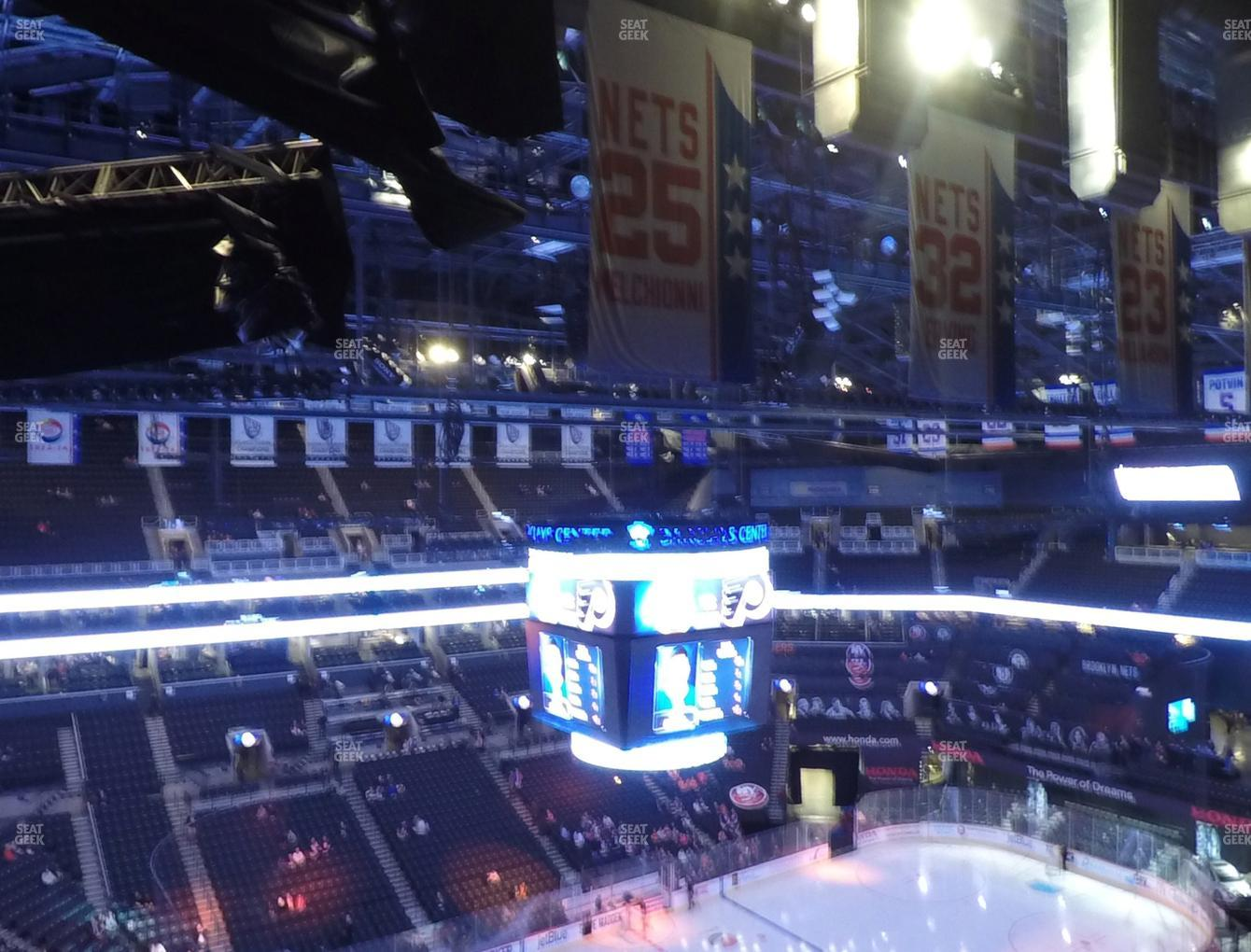New York Islanders at Barclays Center Section 211 View