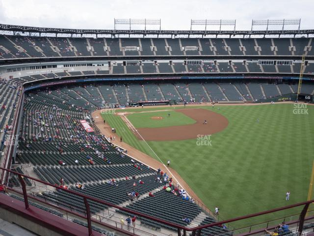 Globe Life Park Section 343 view
