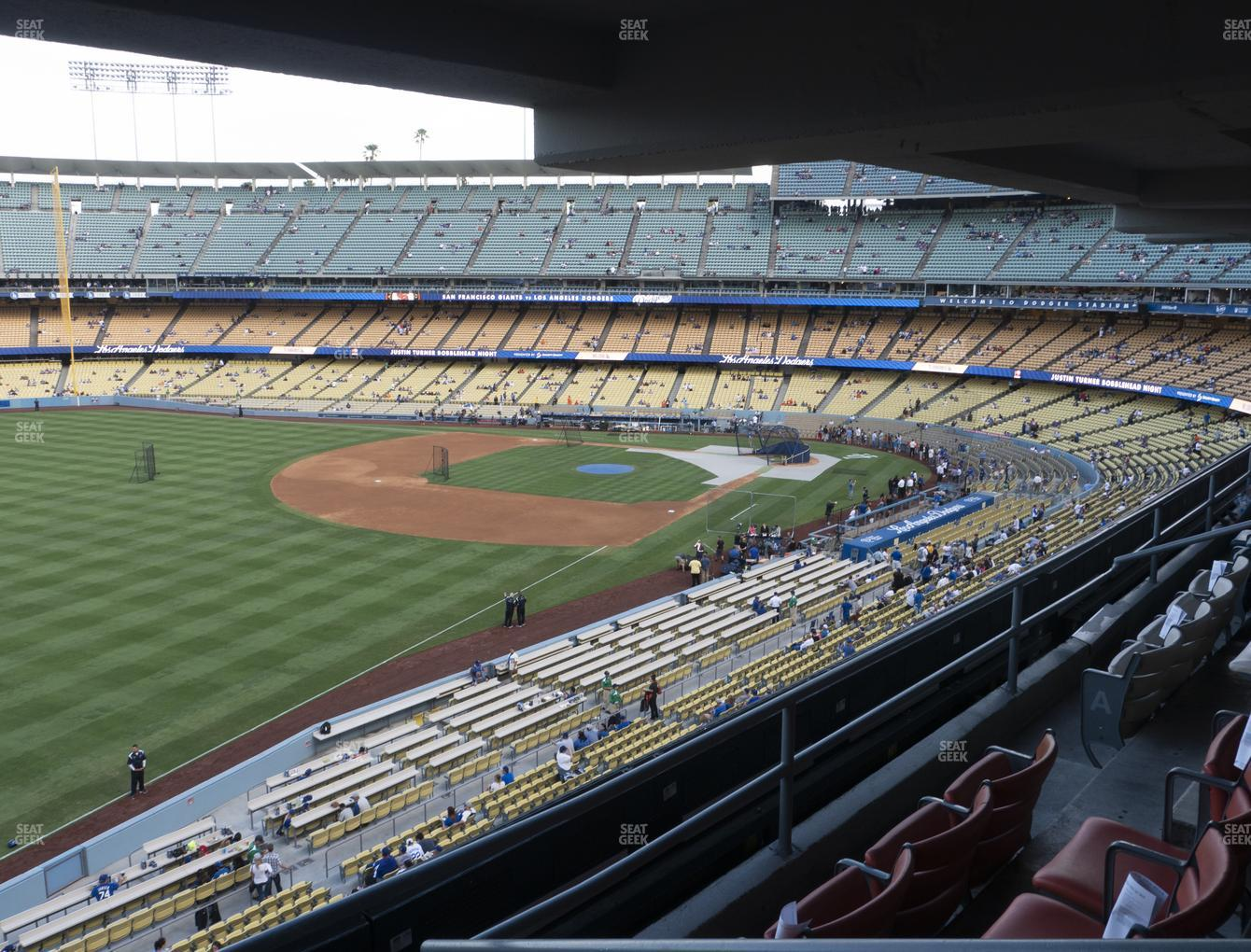 Los Angeles Dodgers at Dodger Stadium Section Club 241 View