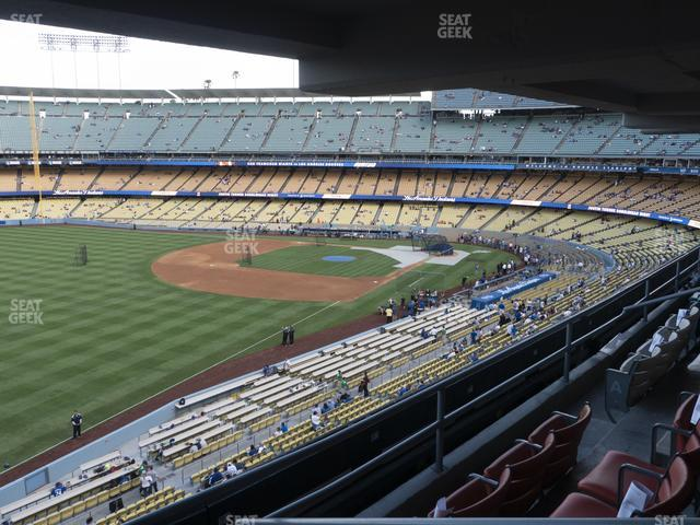 Dodger Stadium Section Club 241 view
