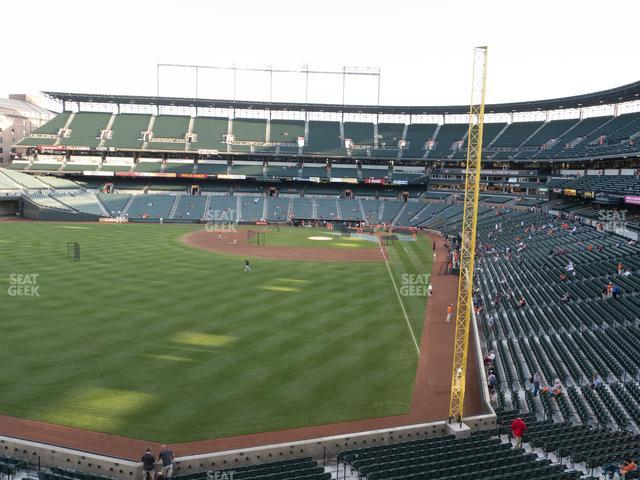 Oriole Park at Camden Yards Section 278 view