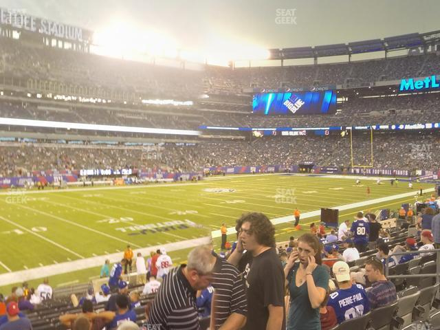 MetLife Stadium Section 117 view