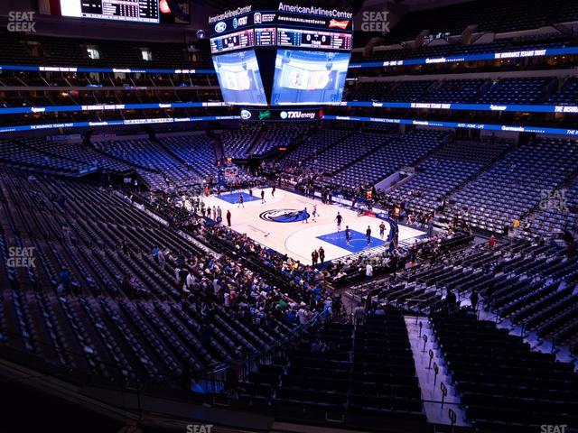 American Airlines Center Section 204 view