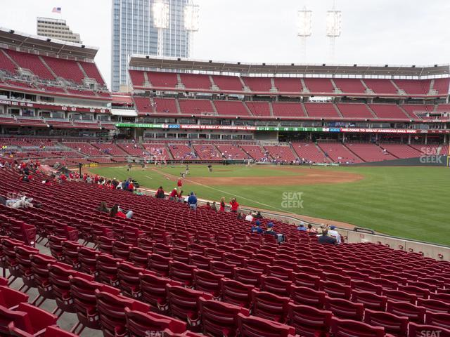 Great American Ball Park Section 136 view