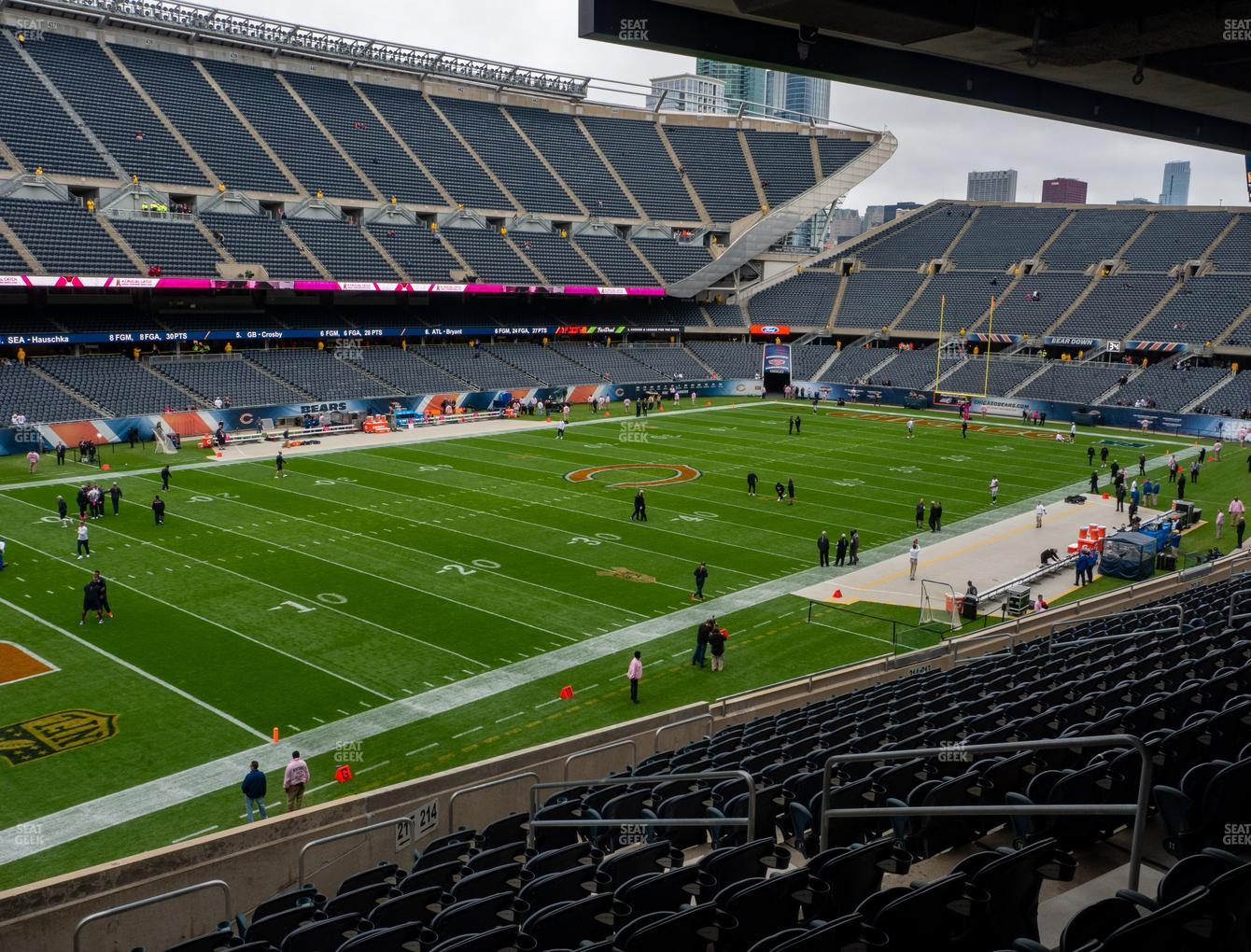 Chicago Bears at Soldier Field Section 215 View