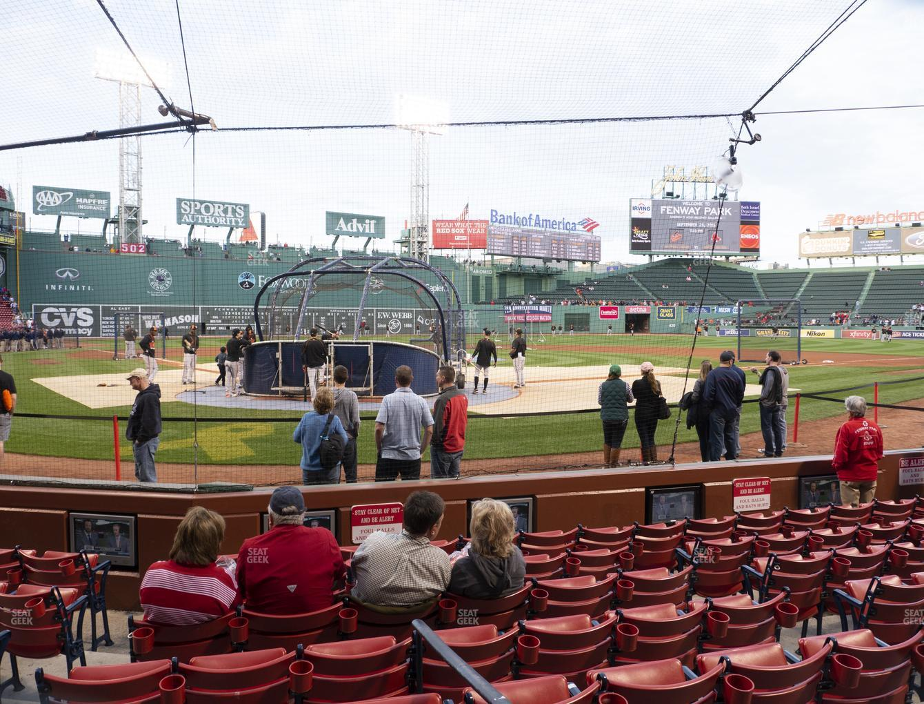 Boston Red Sox at Fenway Park Field Box 42 View