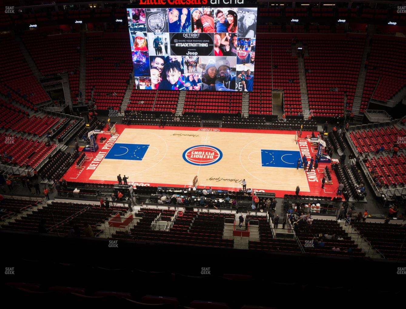 Detroit Pistons at Little Caesars Arena Section 226 View