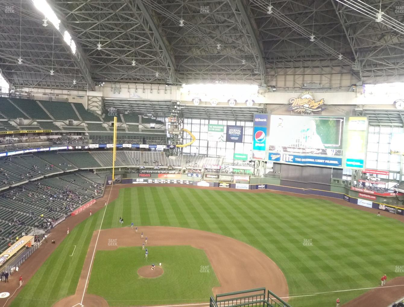 Milwaukee Brewers at Miller Park Section 417 View