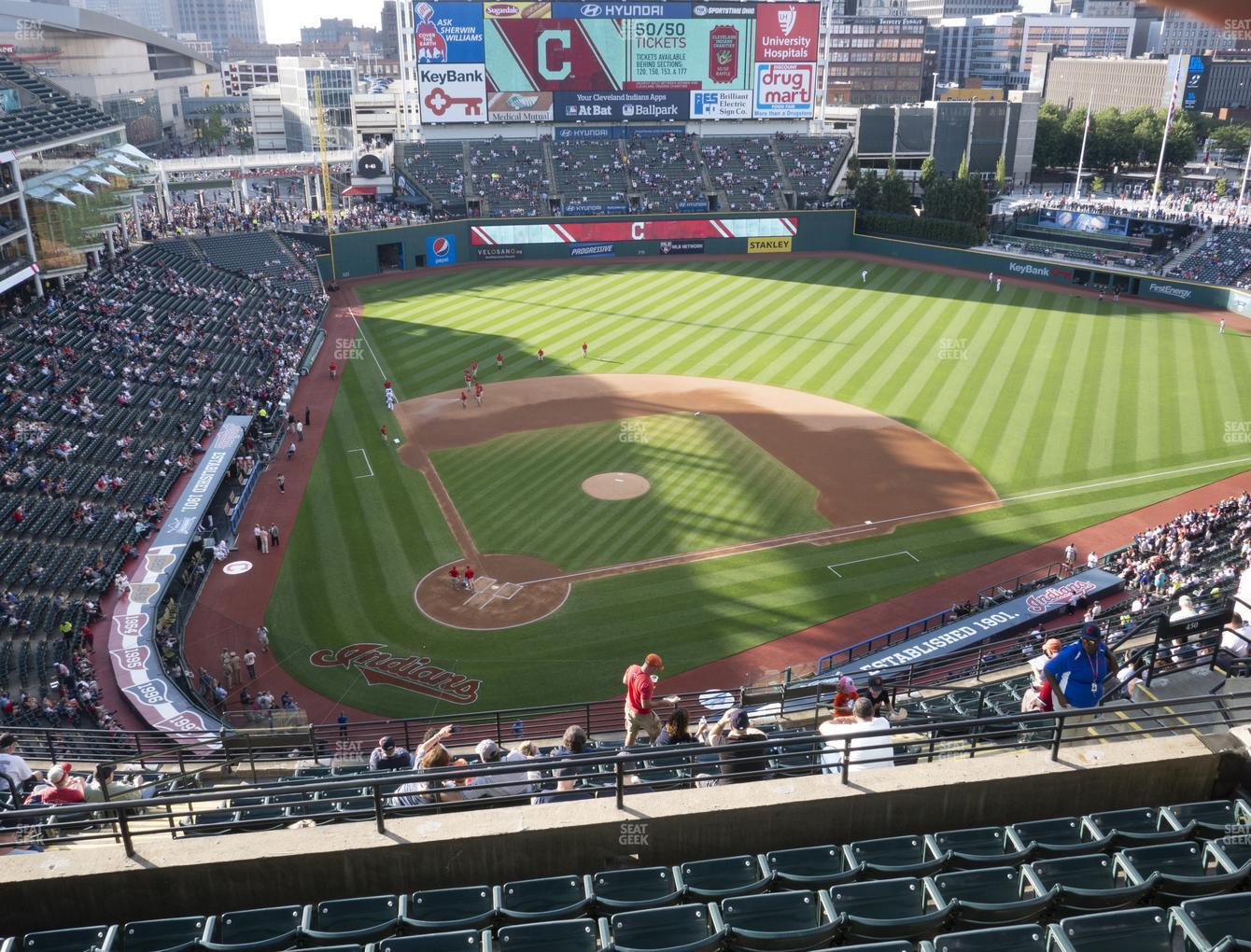 Cleveland Indians at Progressive Field Section 551 View