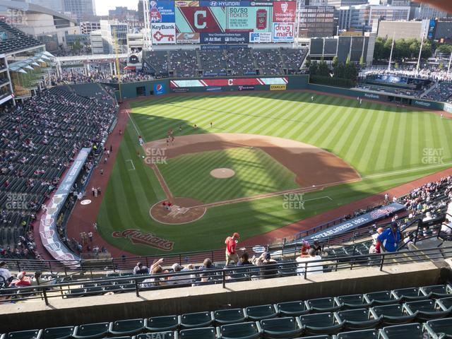 Progressive Field Section 551 view
