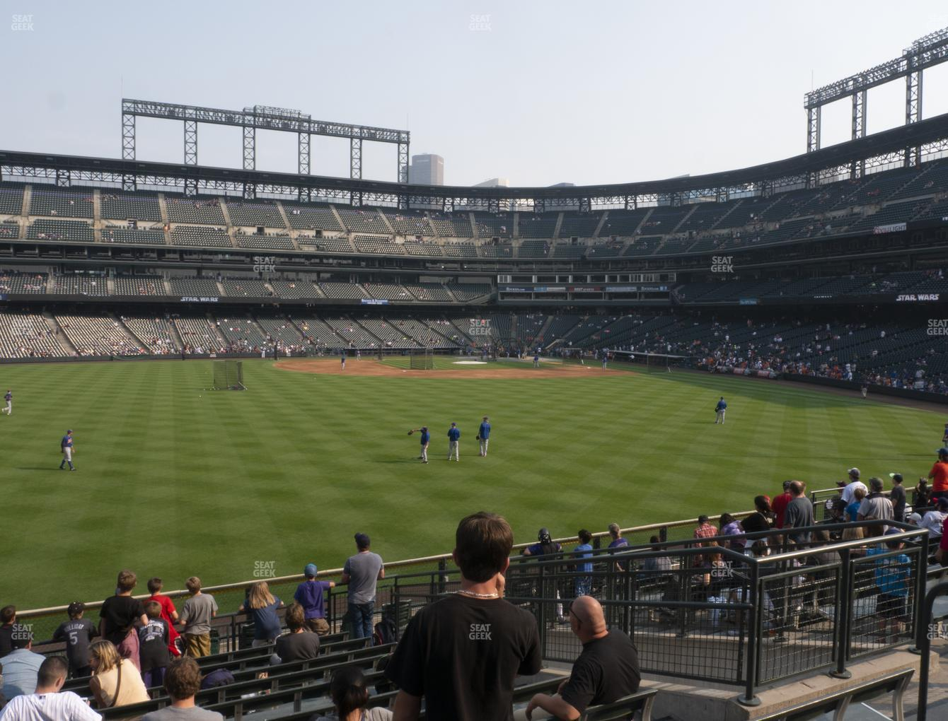 Colorado Rockies at Coors Field Section 156 View