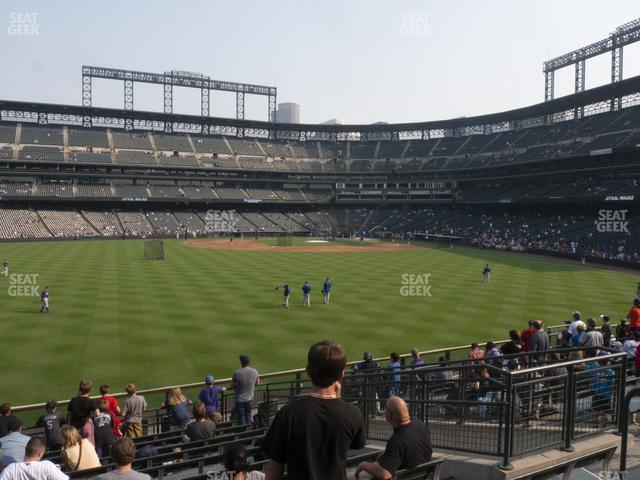 Coors Field Section 156 view