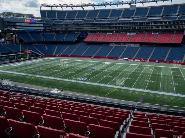 Gillette Stadium Section Club 7 view