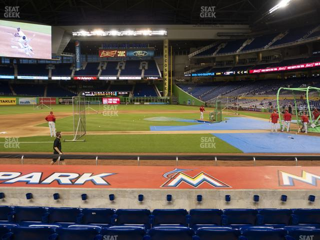 Marlins Park Section 20 view
