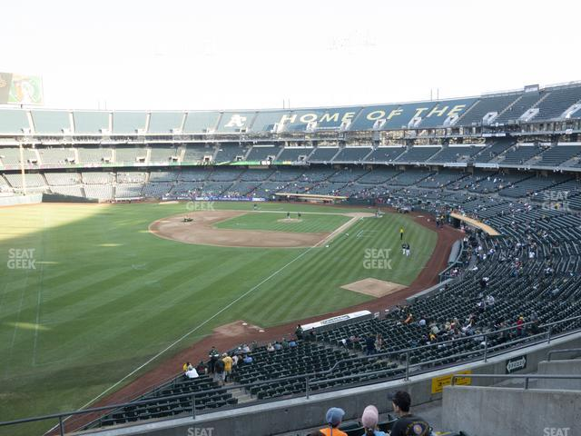Oakland-Alameda County Coliseum Section 230 view