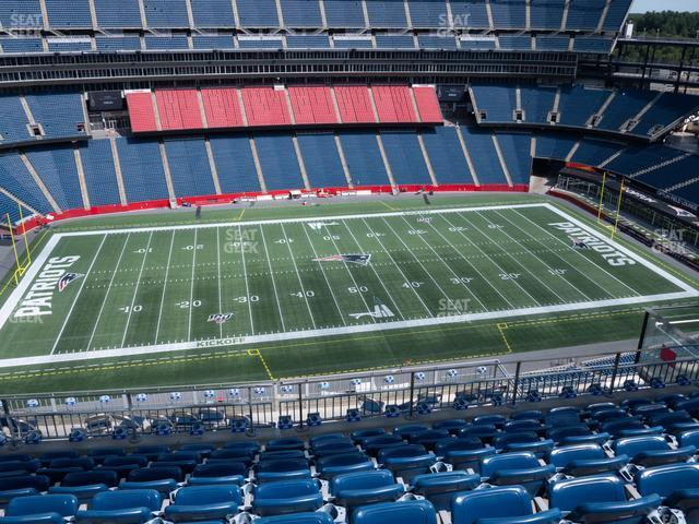 Gillette Stadium Section 333 view