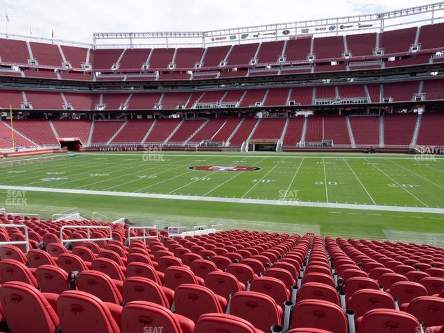 Levi's Stadium Section C 136 view