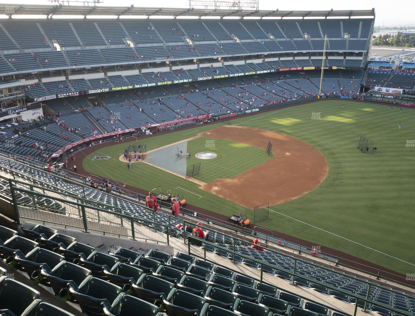 Los Angeles Angels at Angel Stadium of Anaheim Section 531 View