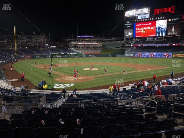 Nationals Park Section 124 view