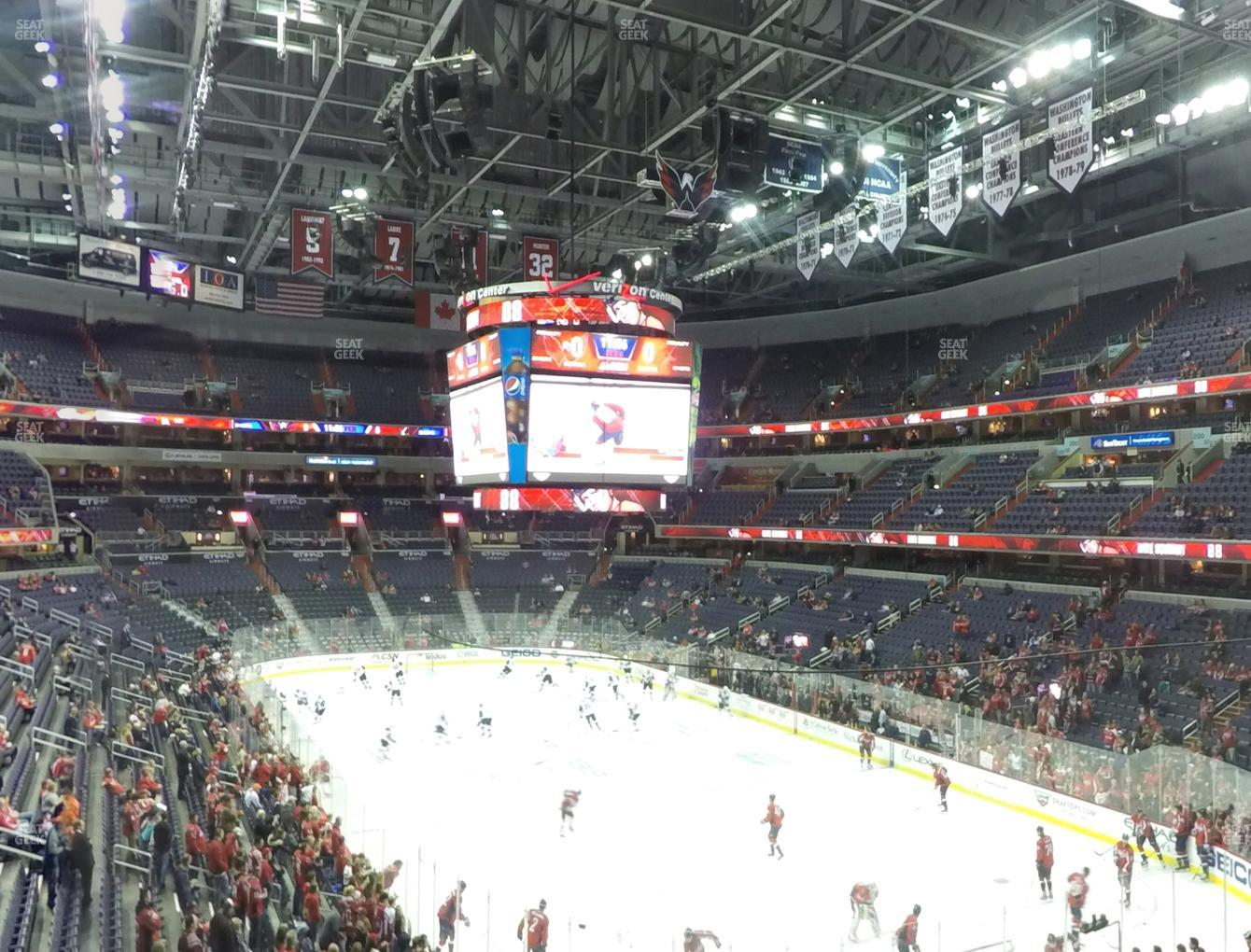 Washington Capitals at Capital One Arena Section 221 View