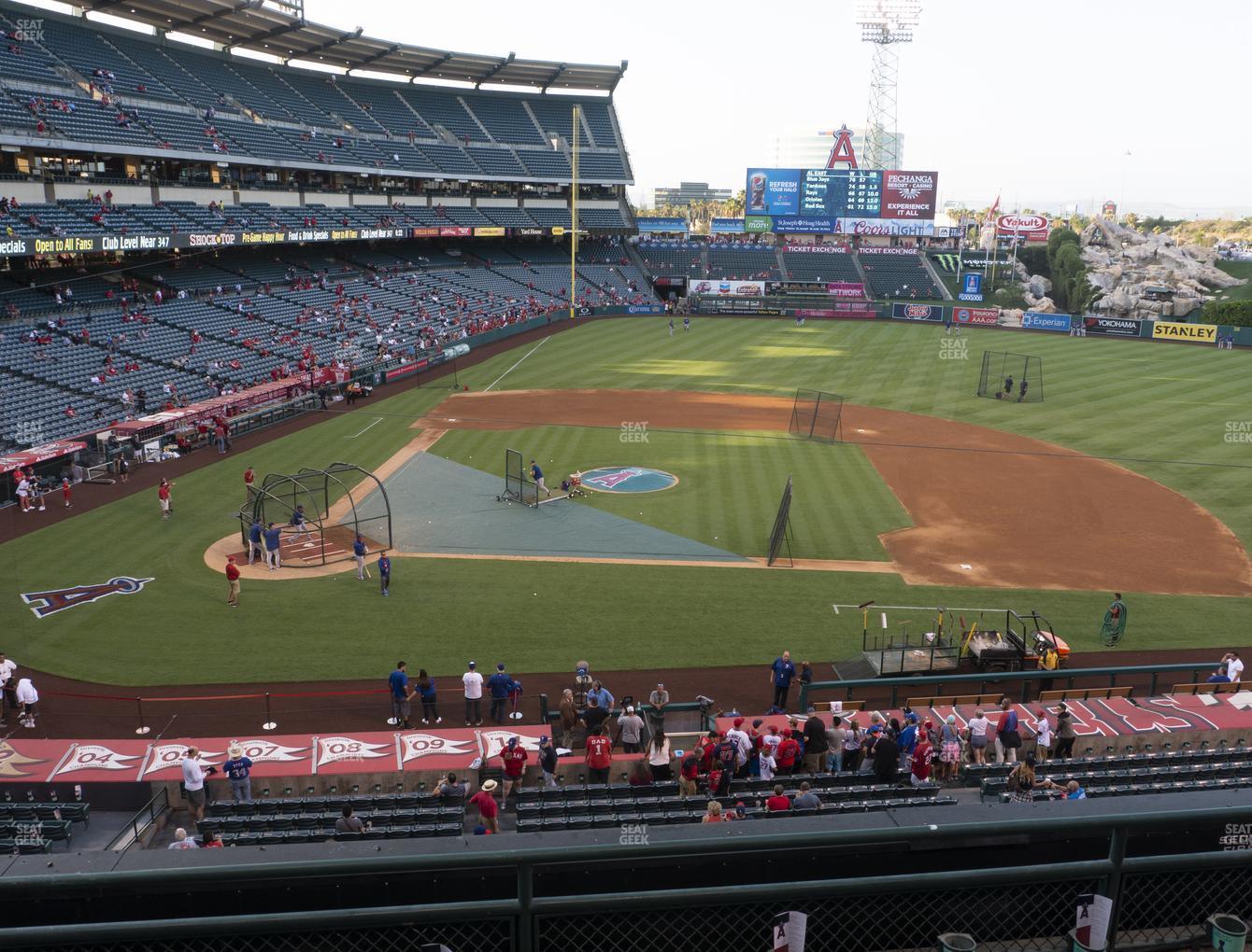 Los Angeles Angels at Angel Stadium of Anaheim Section 333 View