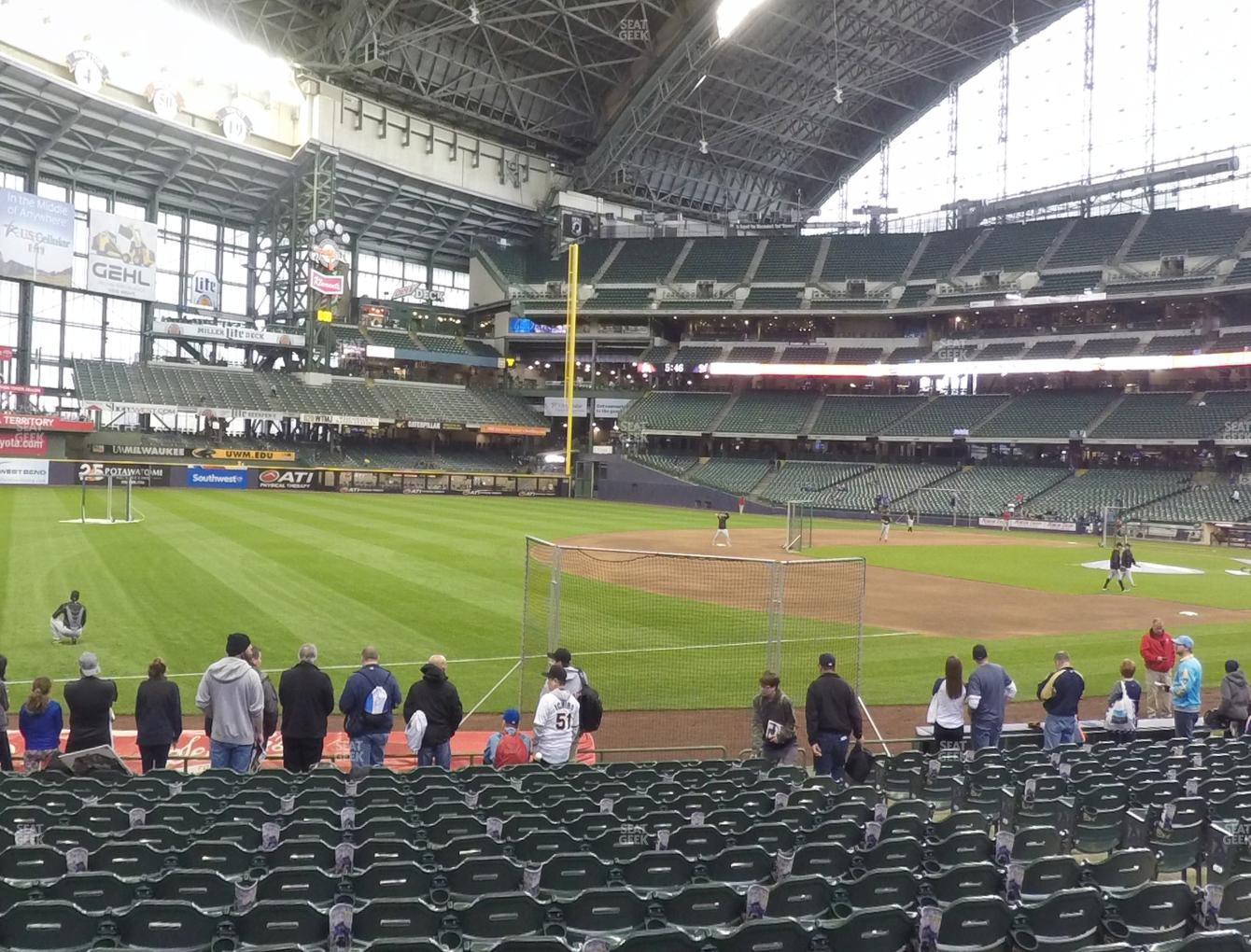 Milwaukee Brewers at Miller Park Section 126 View