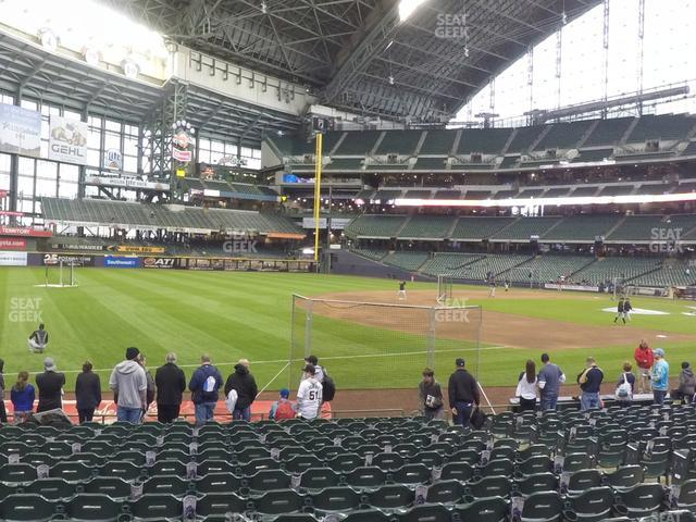 Miller Park Section 126 view