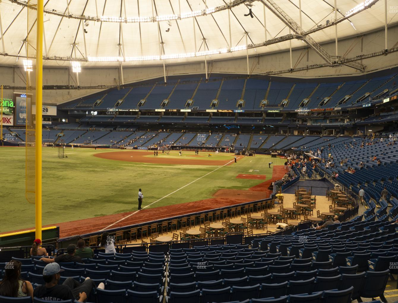Tampa Bay Rays at Tropicana Field Section 137 View